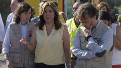 Susana Díaz: «No vamos a permitir ninguna recalificación de las zonas afectadas por el incendio»
