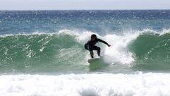 Olas, calor y triunfos en el último día de Campeonato de España de surf en Doniños