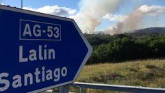 Cuatro focos simultáneos en un incendio en Ourense