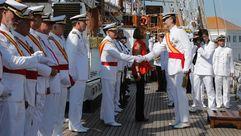 Felipe VI preside la entrega de despachos en Marín