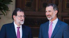 Rajoy comparece tras su encuentro con el rey en Marivent