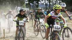 Primer mini BTT en el Bike Park Outeiro