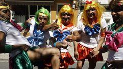 Miles de personas disfrutan del carnaval de verano de Redondela