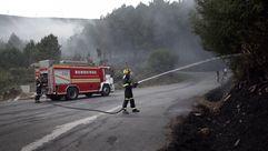 Controlado el incendio que calcinó unas 20 ha en Boiro