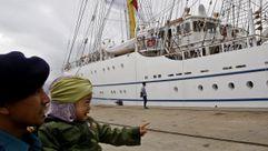 Freire se despide del buque escuela «Bima Suci»