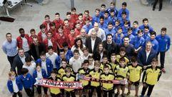El fútbol base se une entorno al CD Lugo