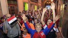 Desfile de los equipos participantes en el Campeonato del Mundo de Biathle