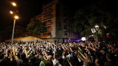 Hostigamiento a policías en varios puntos de Cataluña