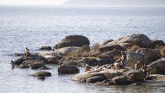 Samil, de playa en pleno octubre