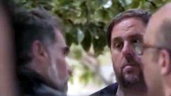 El vídeo que muestra la división entre los independentistas