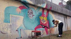 Los coloridos muros del Parees Fest