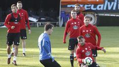 El Celta prepara en Balaídos la visita del Atlético