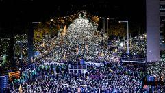 Manifestación en Barcelona para exigir la libertad de los Jordis y los exconsejeros