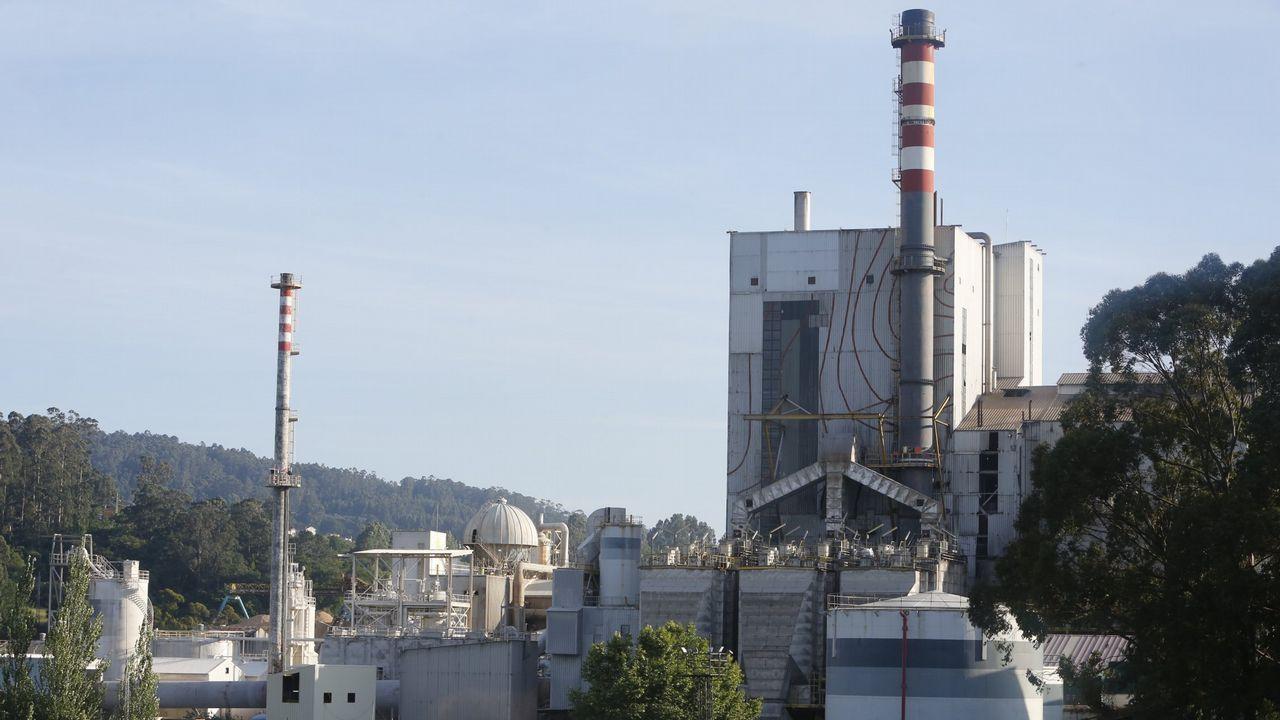 Vista del parque de carbones de Aboño