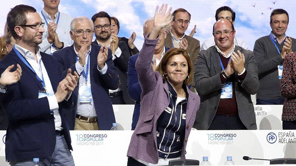 Rajoy mantiene a Cospedal como secretaria general del Partido Popular.Estefanía Torres