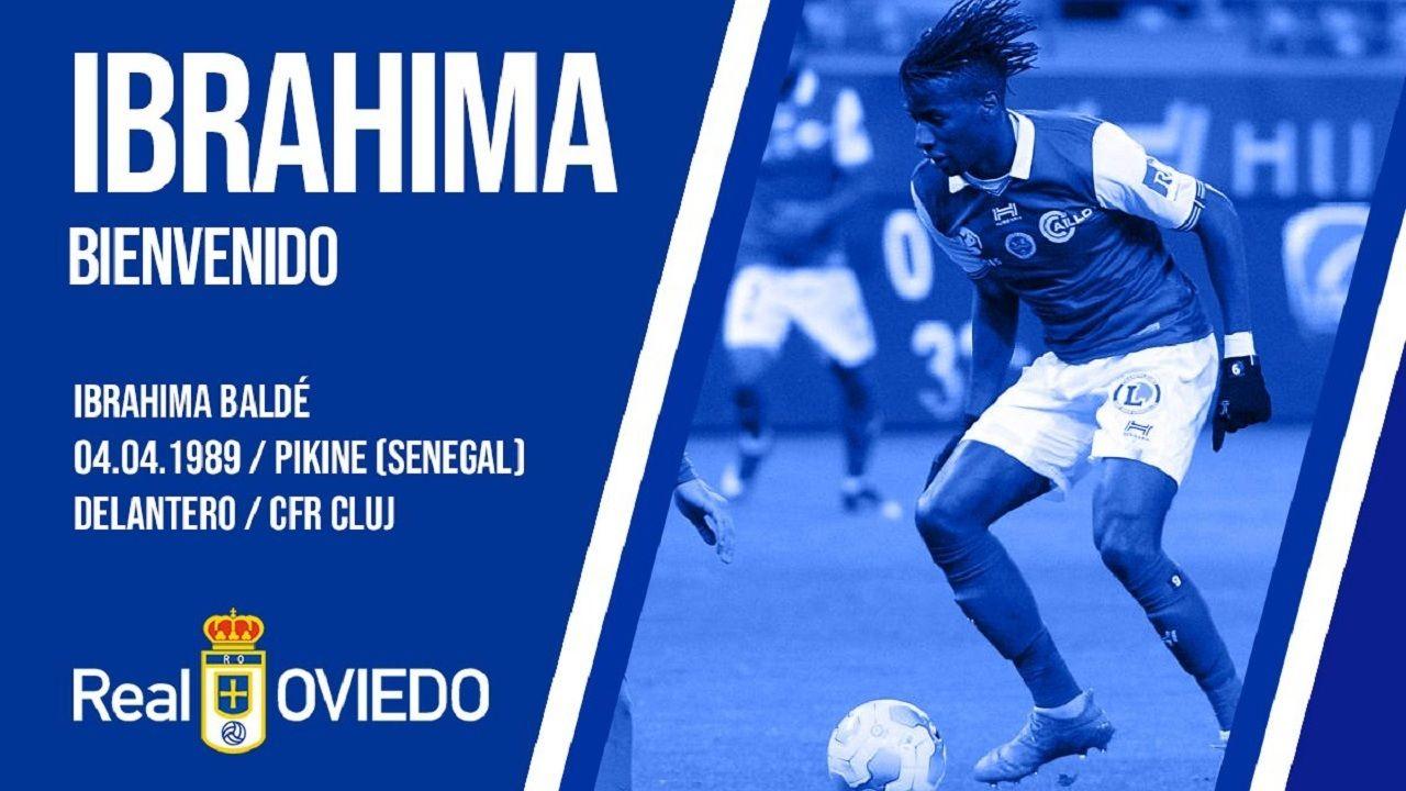 .Ibrahima Baldé, nuevo jugador del Real Oviedo