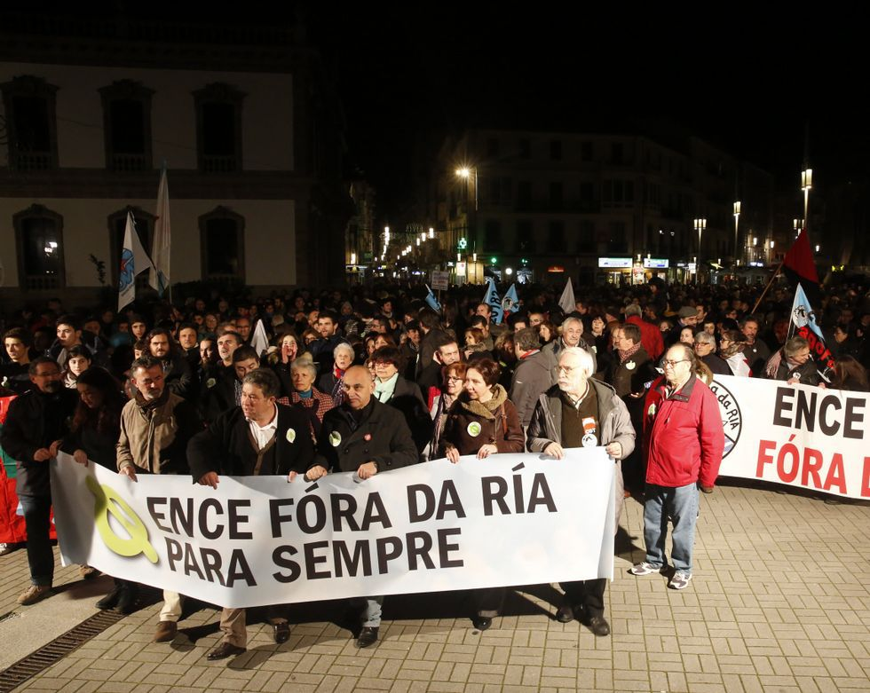 La manifestación del viernes reavivó el espíritu antiEnce, un tanto apagado en los últimos años.