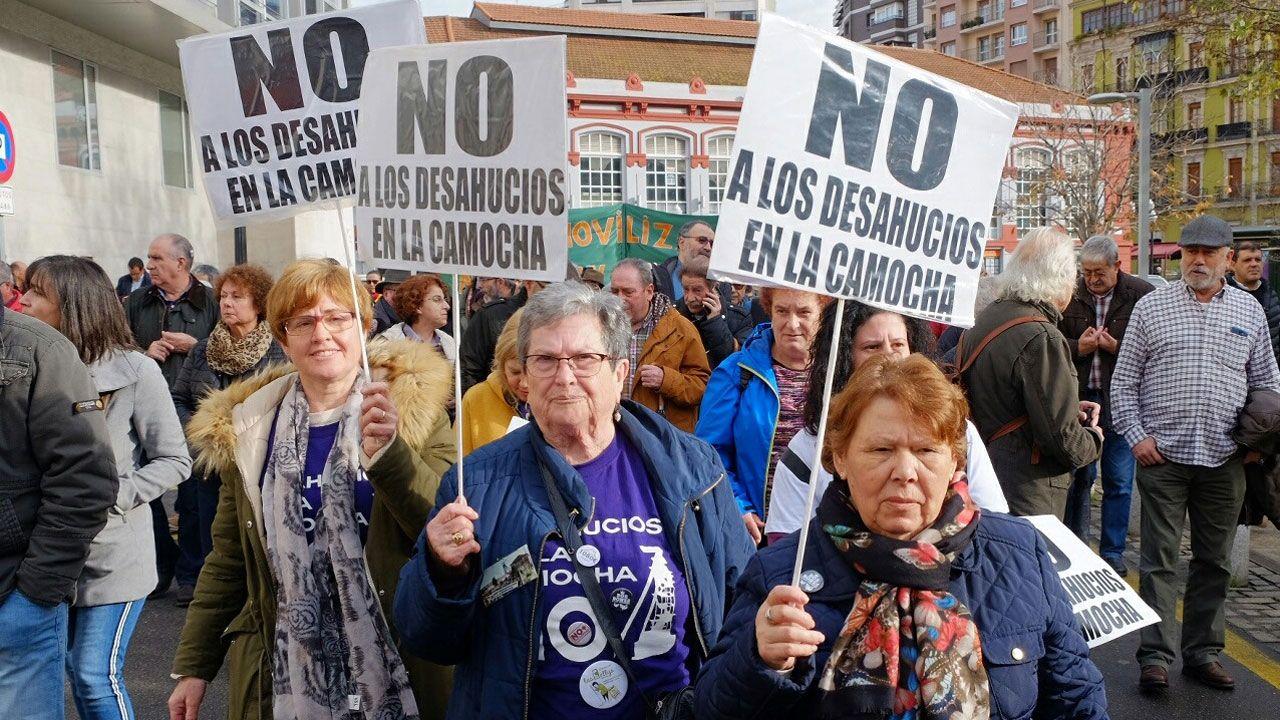 En una marcha de pensionistas en Gijón
