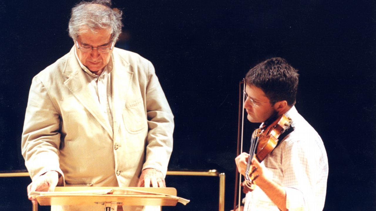 Berio, con el violinista Francesco D'Orazio