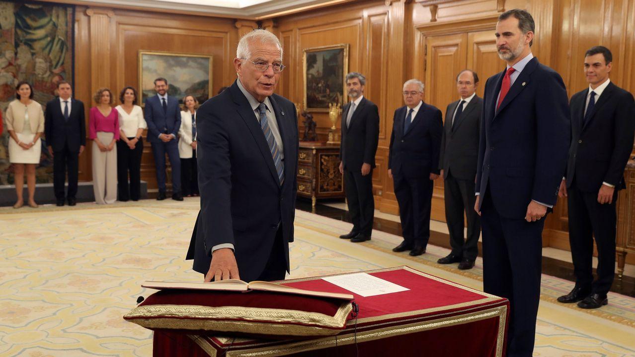 Josep Borrell promete su cargo como nuevo ministro de Asuntos Exteriores