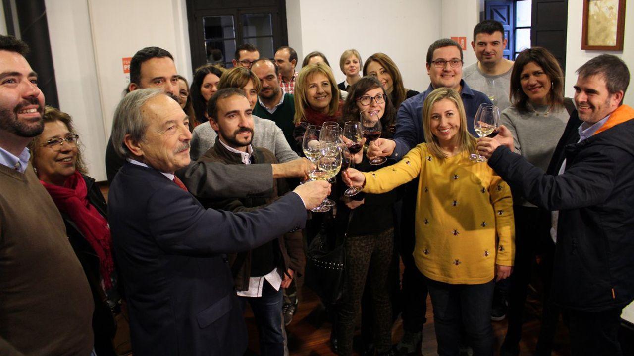 Villa Magdalena.Brindis navideño 2018 de los alcaldes y alcaldesas asturianos