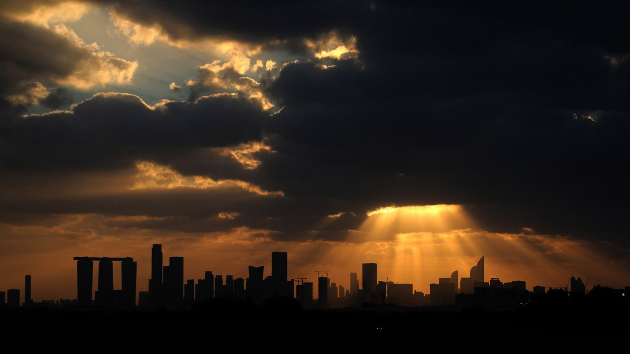 Vista de Abu Dhabi