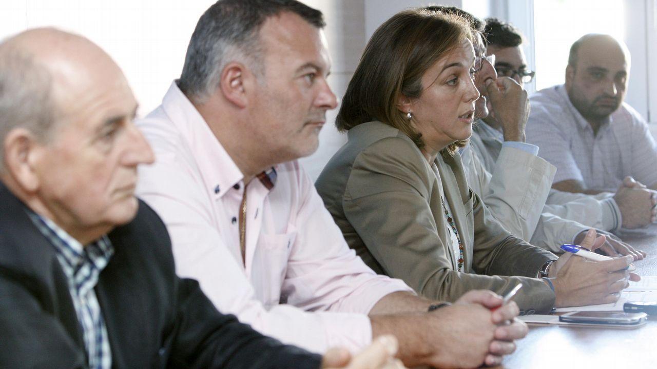El Congreso vota hoy a favor de iniciar la transferencia de la AP-9 a Galicia.Un militante de Vox