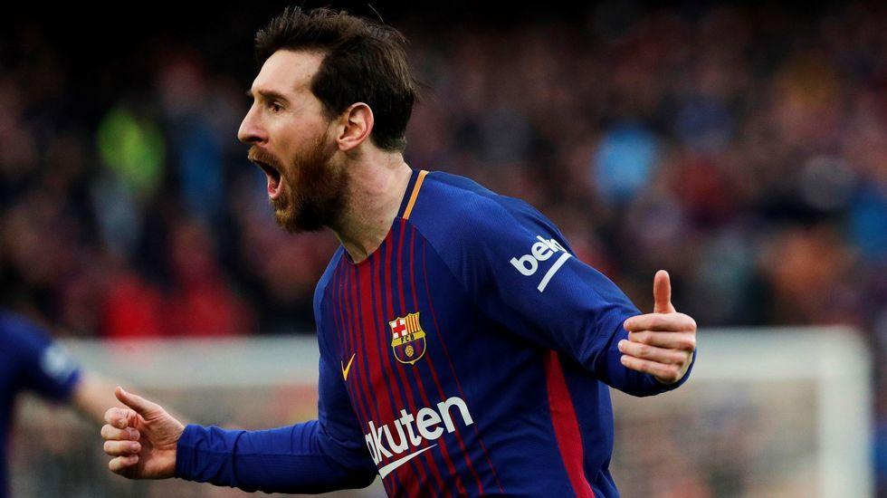 Messi anotó de falta el gol del triunfo del Barça