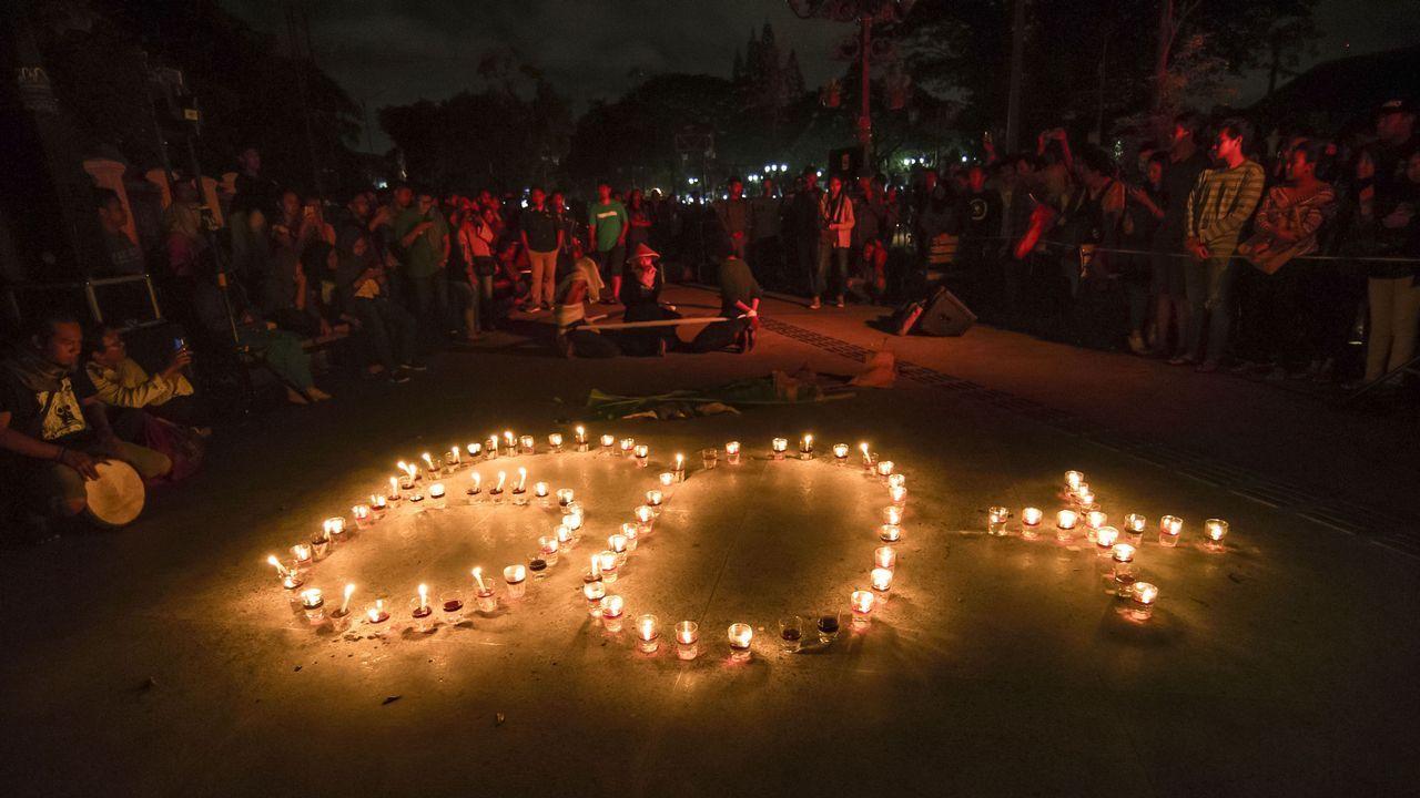 Conmemoración de la Hora del Planeta en Yakarta