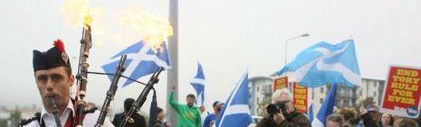 Así están votando los escoceses.