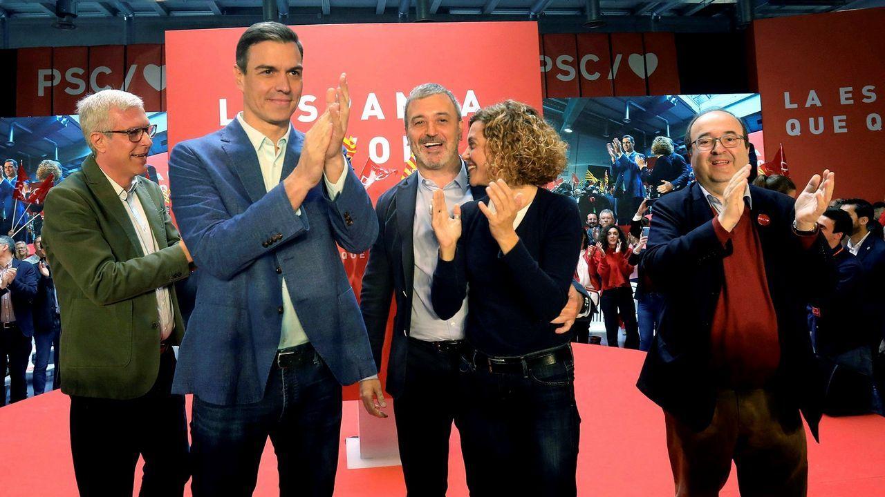 Jordi Sánchez cree que el PSOE aceptará el referéndum.El líder del PSC, Miquel Iceta