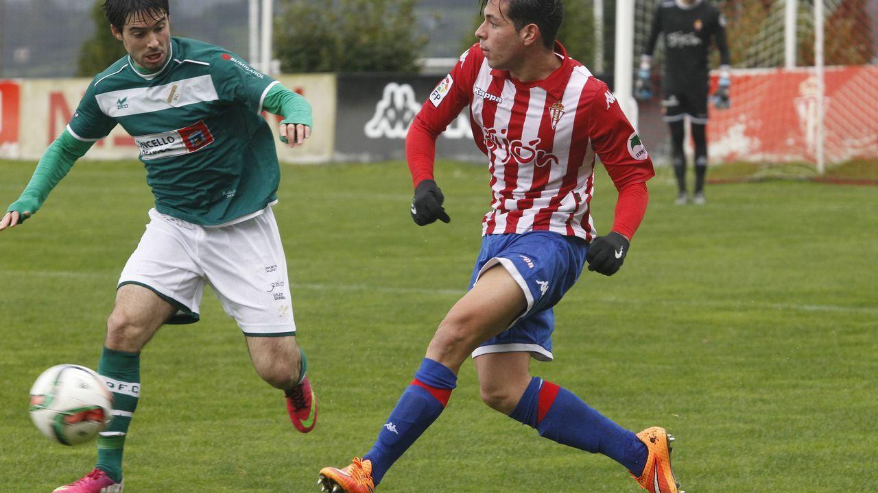 David Rodríguez disputa un balón en el Alcorcón-Cádiz de la última jornada