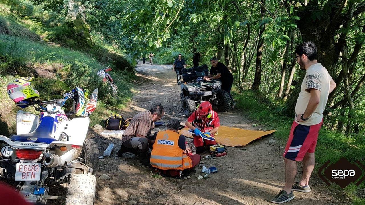 Accidente de moto en Sobrescobio
