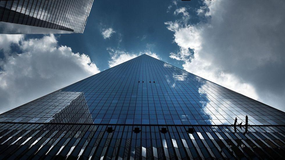 El nuevo World Trade Center.Cuatro de las obras que se podrán ver desde hoy en la muestra retrospectiva sobre Antonio Murado.