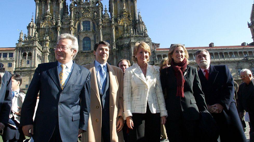 Junto a Ignacion González, en un acto en Santiago, en el 2004.