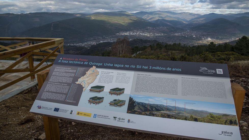 Geomiradores de Ribas de Sil. En tiempos recientes se acondicionaron en este municipio varios miradores que permiten apreciar la conformación geológica del valle de Quiroga