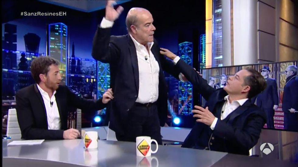 Antonio Resines abandona el plató del Hormiguero tras una pregunta de Pablo Motos