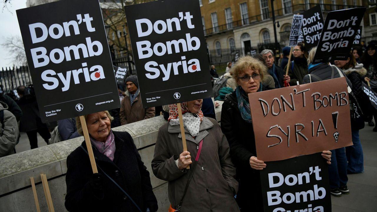 Las imágenes delataquede los aliadosa Siria