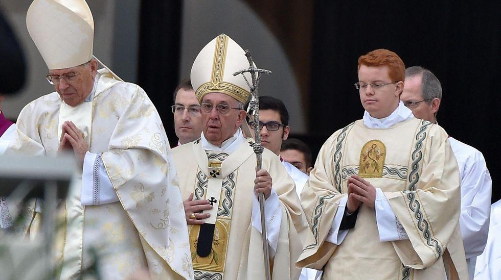.El Papa, durante la misa de inauguración del Jubileo Extraordinario del a Misericordia, el 8 de diciembre del 2015