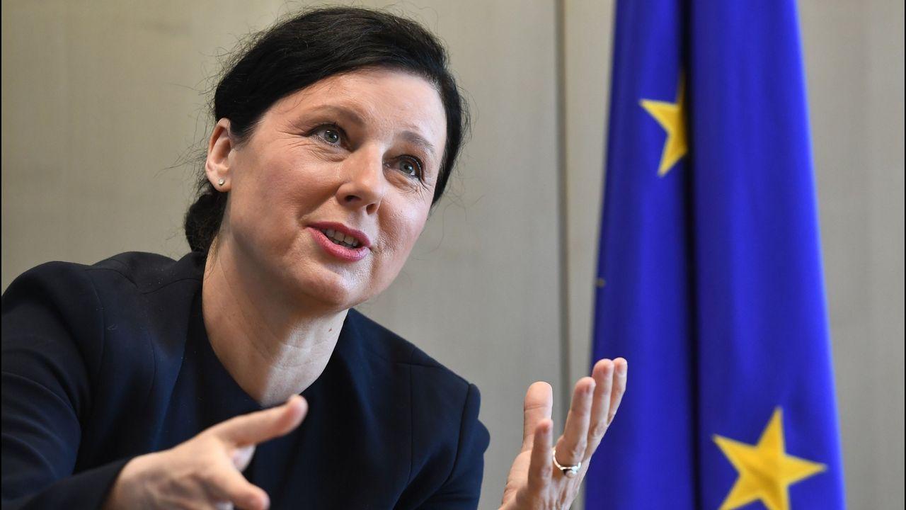 .La comisaria de Justicia, Vera Jourova