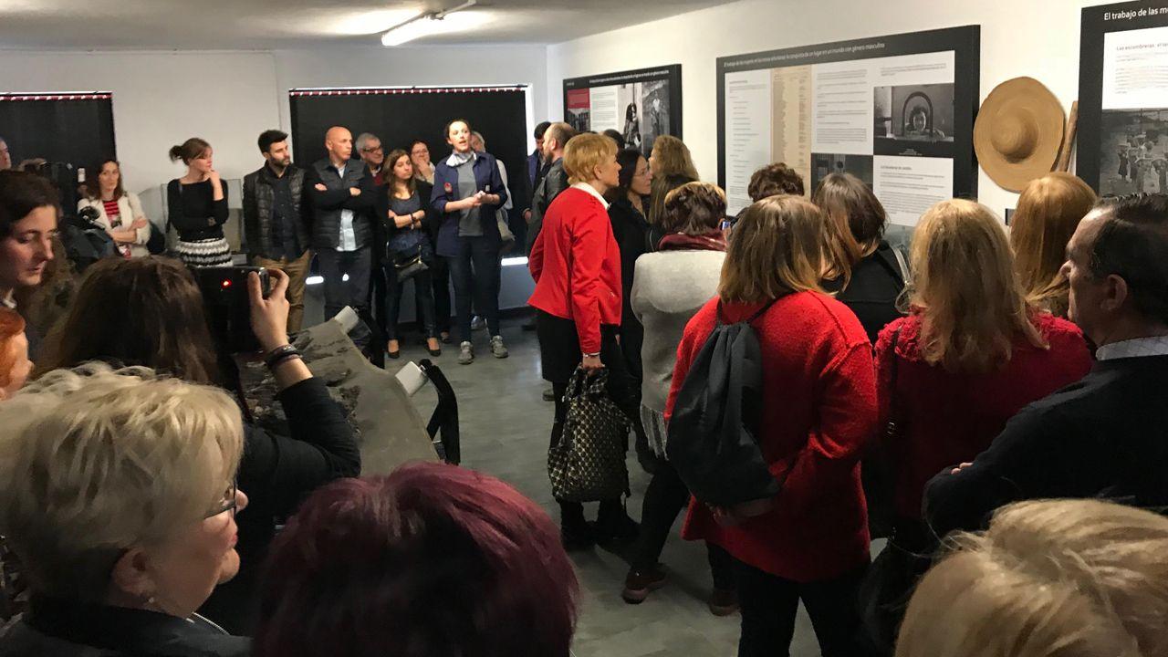 Inauguración de la exposión en el Centro de Experiencias y Memoria de la Minería