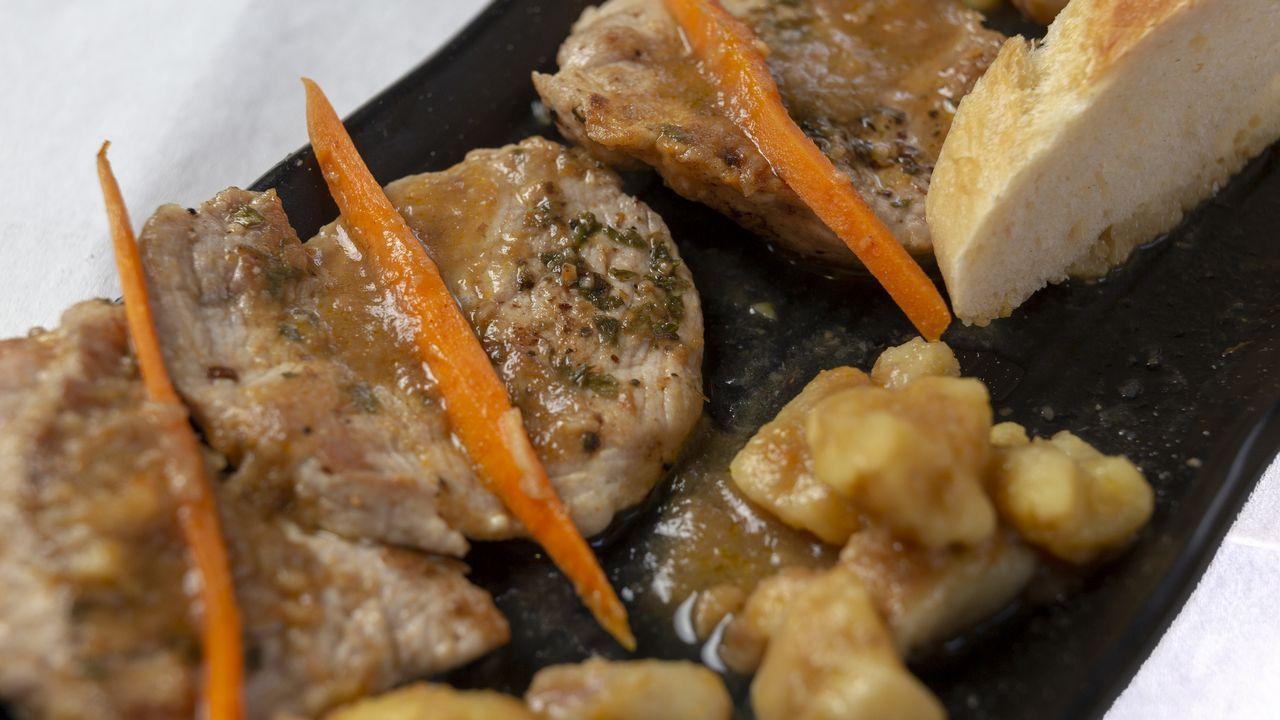 Cervecería Suiza: Solomillo de cerdo con salsa de castañas y champiñones