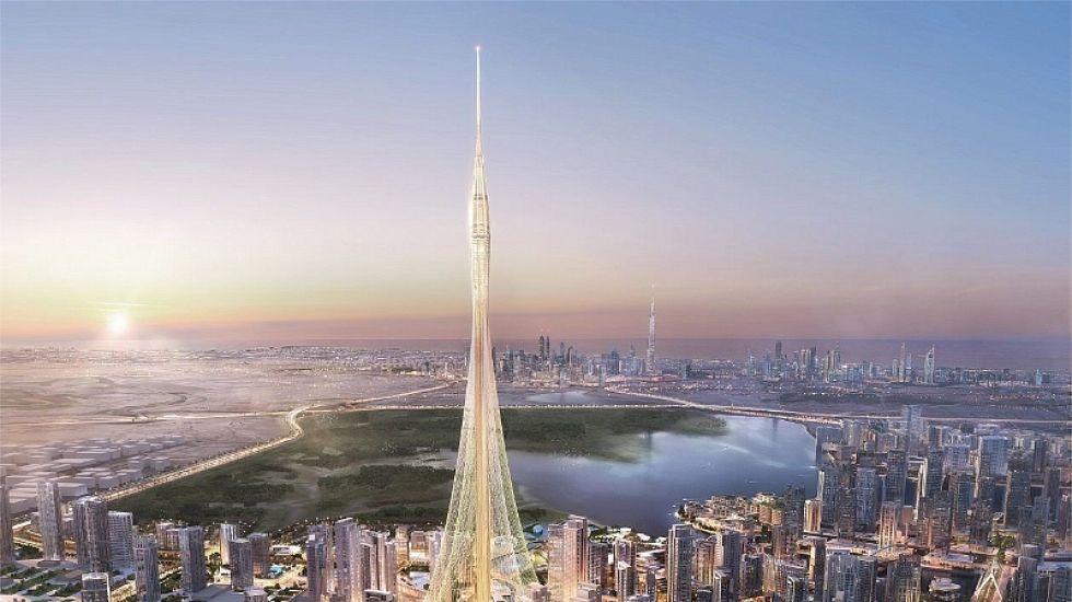 Así es la Torre de Dubai Creek Harbour.El Al Nasr peleará por el título de la Copa Presidente de los Emiratos Árabes Unidos