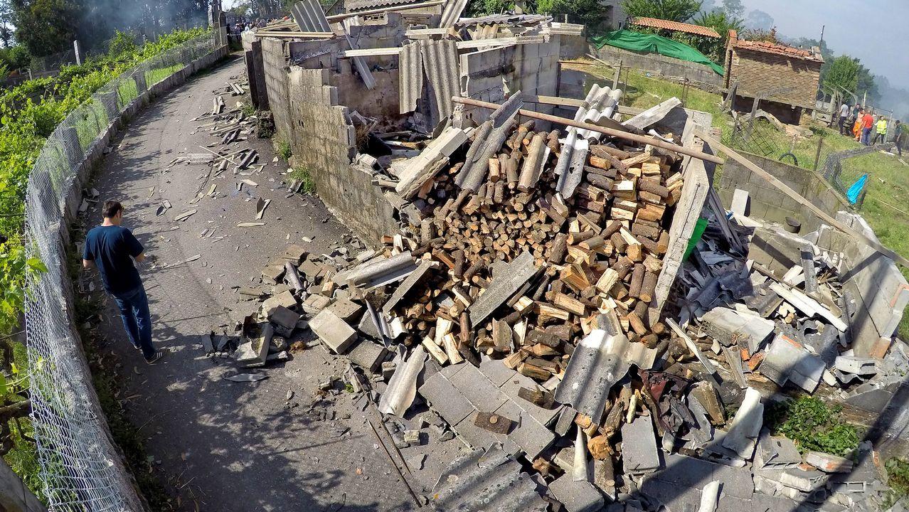 Explosión de un almacén pirotécnico en Tui.