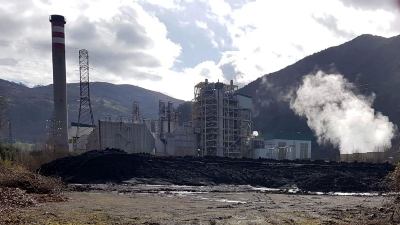 Concentración en apoyo a los mineros encerrados en el pozo Santiago.La térmica de la Pereda