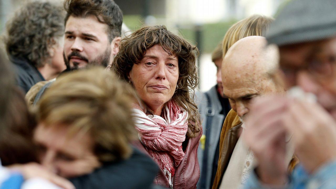 La diputada de ERC, Teresa Jordá, a las puertas de la Audiencia Nacional.