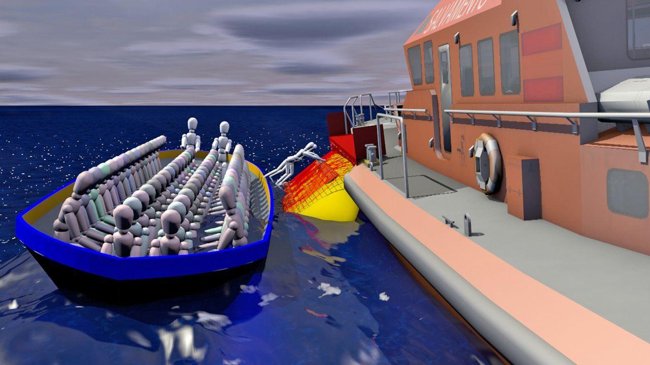 Por un Mundo Sostenible, sin plásticos en nuestros mares.Los cuerpos de los cuatro fallecidos y decenas de rescatados llegan al puerto de Tarifa