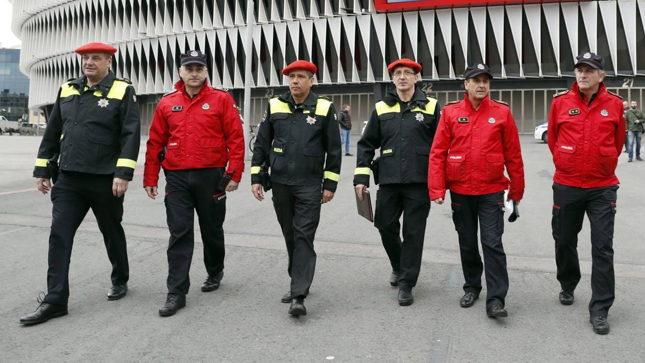 Miembros de la Ertzaintza en una imagen de archivo