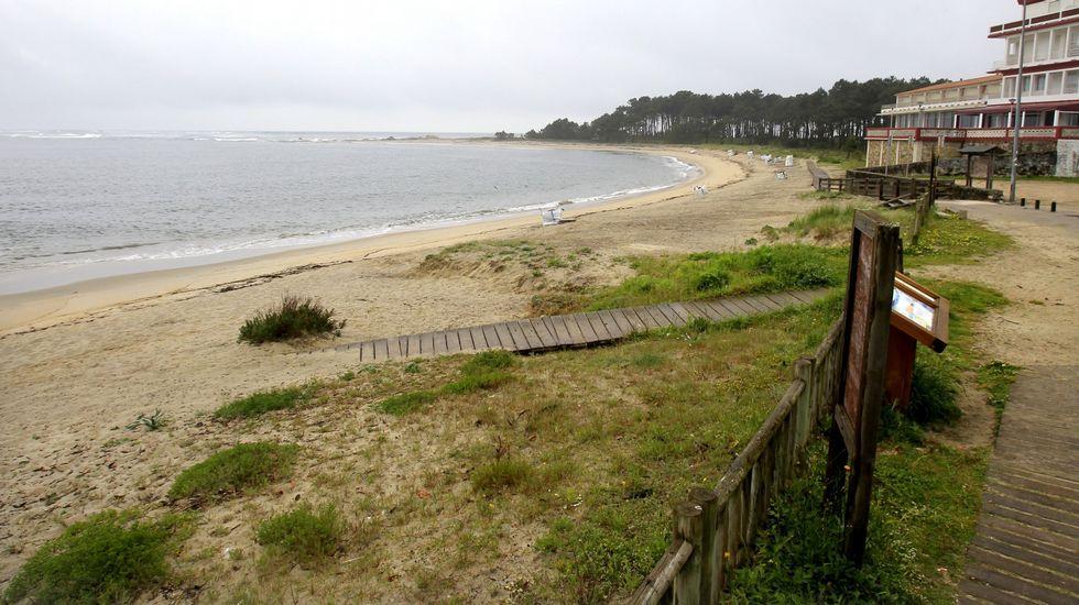 Playa de O Muiño, en A Guarda