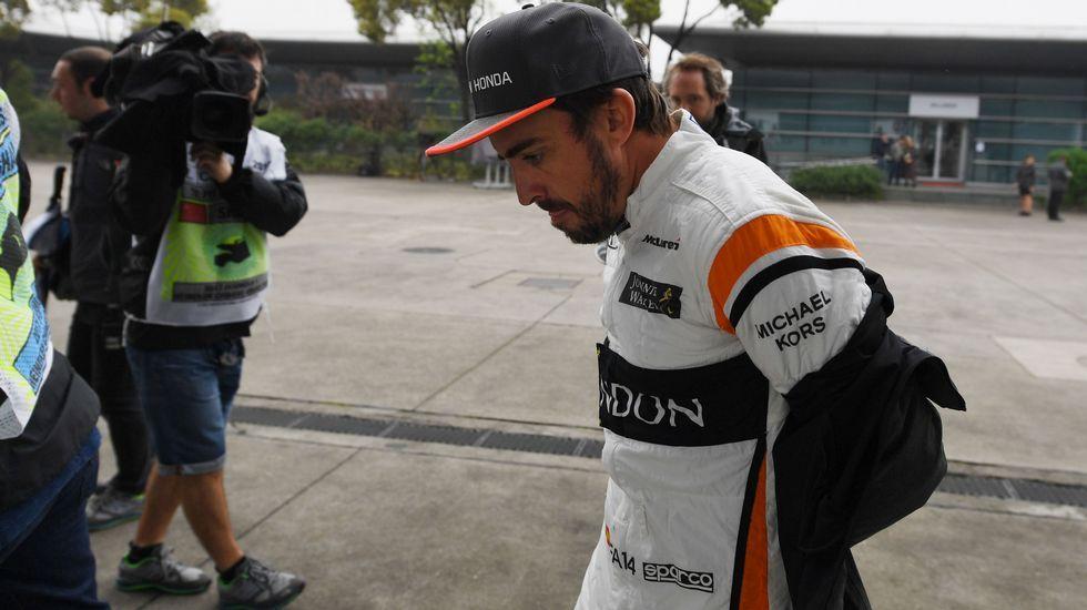 .Fernando Alonso, en Shanghái